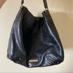 Cole Haan black leather hobo bag